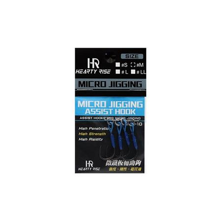 HAMECON ASSIST HOOK HEARTY RISE MICRO JIGGING MJA-10 - PAR 4