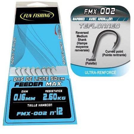 HAMECON MONTE ANGLAISE AVEC CHEVEUX FUN FISHING FMX-002 - PAR 8