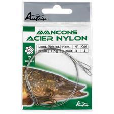 HAMECON MONTE DOUBLE DROIT ACIER NYLON 30CM N° 2