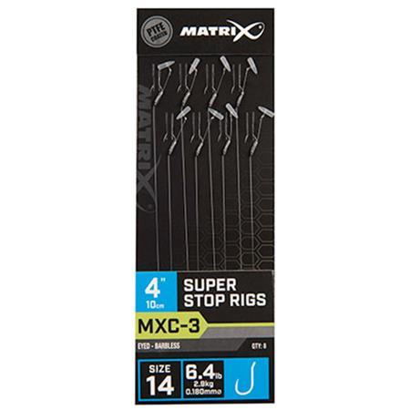 """HAMEÇON MONTÉ FOX MATRIX MXC-3 4"""" SUPER STOP RIGS - PAR 8"""