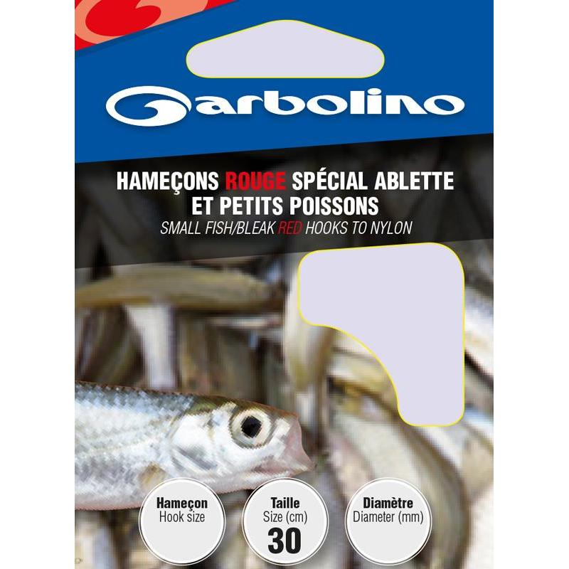 Hamecon monte garbolino rouge special ablette et petits for Achat poisson rouge paris 18