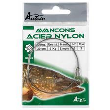 Leaders Autain HAMECON MONTE SIMPLE ACIER NYLON 30CM N° 4