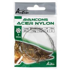 Leaders Autain HAMECON MONTE TRIPLE ACIER NYLON 30CM N° 4
