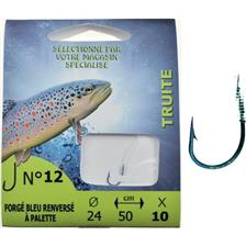 Hooks Pafex HAMECON MONTE TRUITE FORGE BLEU RENVERSE A PALETTE N°8 18/100