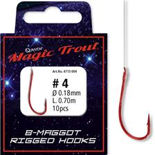 B MAGGOT RIGGED HOOKS 4713104
