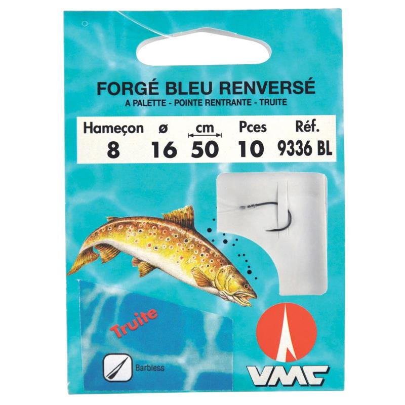 WATER QUEEN Hamecon Monte Truite Forge Bleu Renverse A Cran