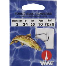 Hooks Water Queen HAMECON MONTE TRUITE FORGE BLEU RENVERSE A PALETTE N° 10 18/100