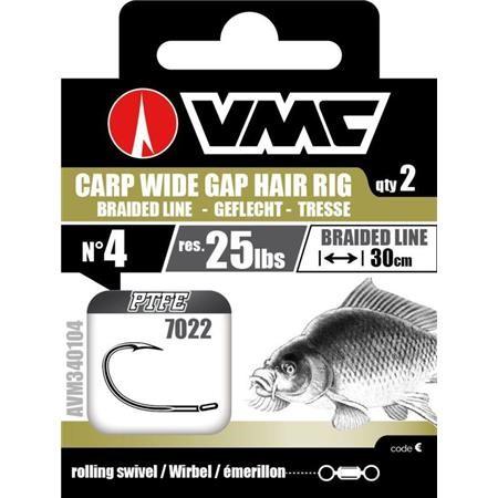 HAMECON MONTE VMC 7022 CARP WIDE GAP HAIR RIG