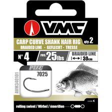Tying VMC 7025 CARP CURVE SHANK HAIR RIG N°6 30CM