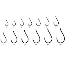 HAMECON SIMPLE CARNASSIER FUDO HOOKS CHINU W/RING - NICKEL