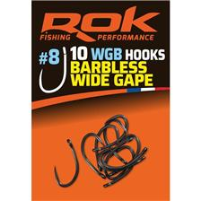 Hooks Rok Fishing BARBLESS WIDE GAPE N°8