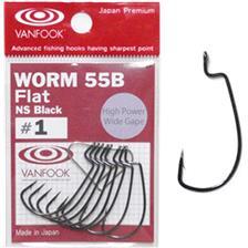 Hooks Vanfook WORM 55BF BLACK VAN WO 55BF#1