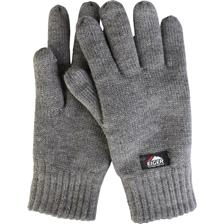HANDSCHUHE / HERREN EIGER KNITTED GLOVES - FLEECE GRAU