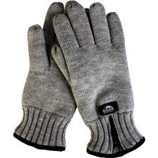 HANDSCHUHE / HERREN EIGER KNITTED GLOVES W / ZIPPER GRAU