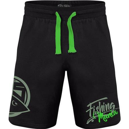 HEREN SHORT HOT SPOT DESIGN FISHING MANIA - ZWART/GROEN