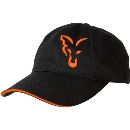 HERRENKAPPE FOX BLACK & ORANGE BASEBALL CAP SCHWARZ