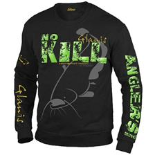 HERRENPULLOVER HOT SPOT DESIGN CAT FISHING SCHWARZ