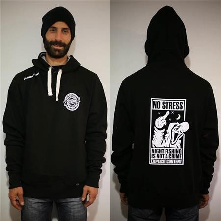 HERRENSWEATER DEESSE NIGHT FISHING IS NOT A CRIME SCHWARZ