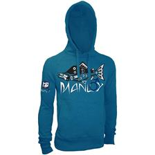 HOODIE HOT SPOT DESIGN MANLY - BLUE