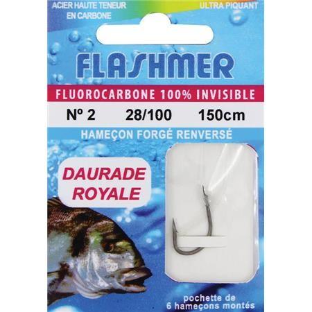 HOOK TO NYLON FLASHMER FLUORO DAURADE ROYALE - PACK OF 60