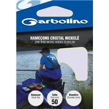 HOOK TO NYLON GARBOLINO CRISTAL NICKELE - PACK OF 10