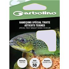 HOOK TO NYLON GARBOLINO SPECIAL RINGWORMS MAGGOTS TROUT - PACK OF 10