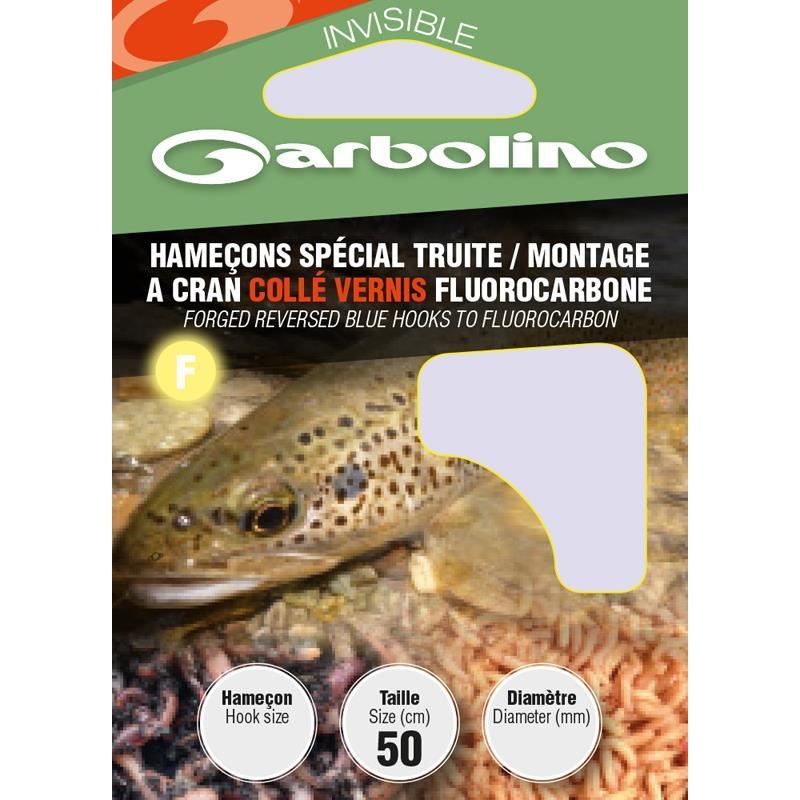 HOOK TO NYLON GARBOLINO SPECIAL TROUT - PACK OF 10 - N°4