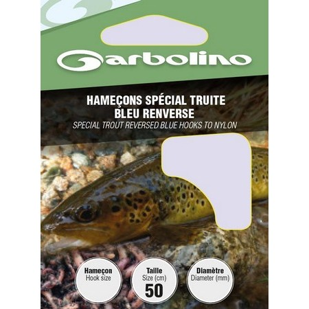 HOOK TO NYLON GARBOLINO SPECIAL TURN BLUE TROUT - PACK OF 10