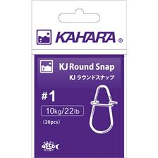 IMPERDIBLE KAHARA ROUND SNAP - PAQUETE DE 20