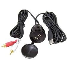 INBOUW STOPCONTACT NAVSOUND USB/JACK VOOR AUTORADIO