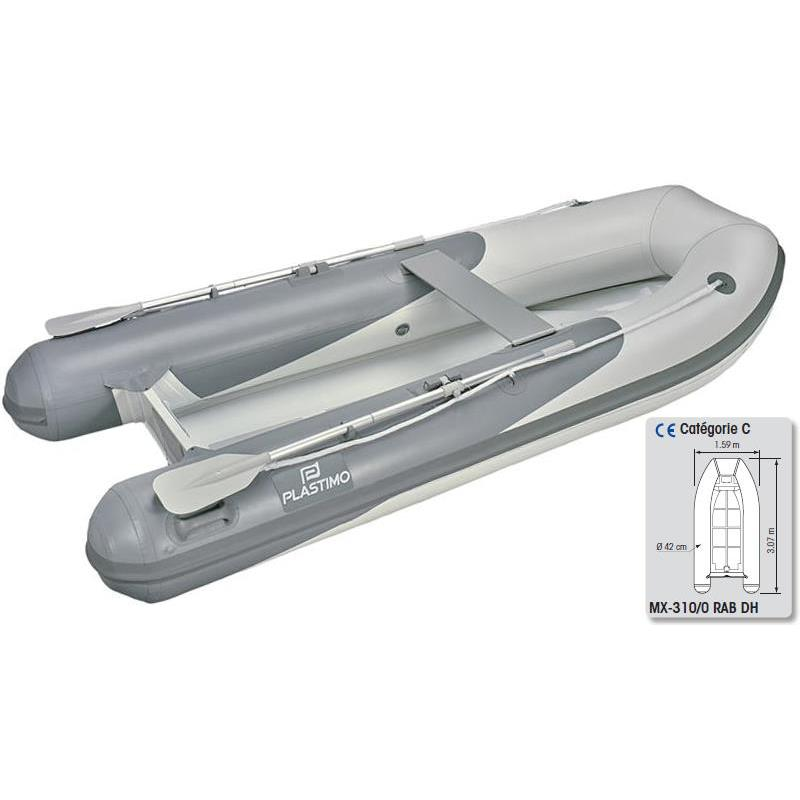 Inflatable boat plastimo hypalon mx-310/0 rab dh - grey