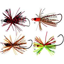 Lures Adam's HEAD JIG JOINTED 7G MARBLE BLACK