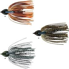 FLAT BACK JIG 28G GREEN PUMPKIN