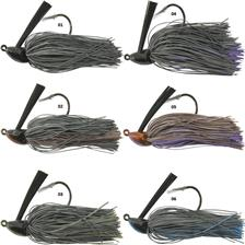 Lures Gan Craft CORE HEAD JIG FINE RUBBER 10.5G BLACK BLUE