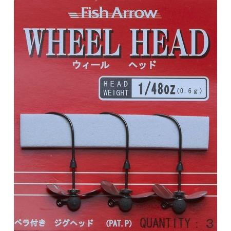JIGKOP FISH ARROW WHEEL HEAD - PARTIJ VAN 3
