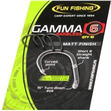 KARPFENHAKEN FUN FISHING GAMMA SERIE BARBLESS - 10ER PACK