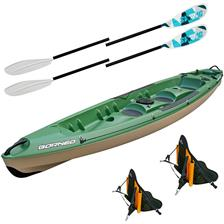 Crafts Bic Sport BORNEO FISHING KAYAK BORNEO FISHING + 2 DOSSERETS FISH + 2 PAGAIES SWING ALU 2.2M