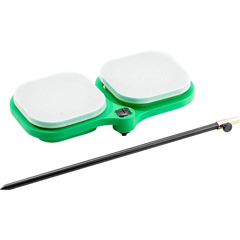 KIT BOITE A ESCHE CARREE + PIQUET PLASTILYS - Kit boîte à esches carrées avec piquet