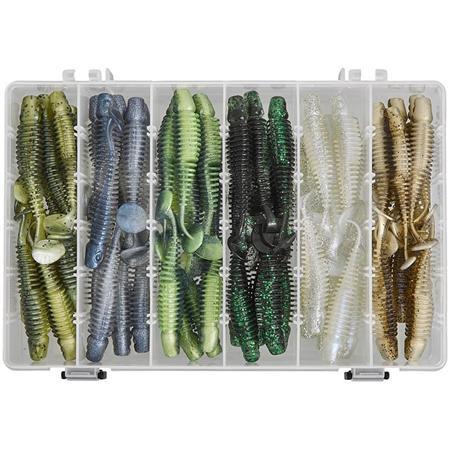 KIT LEURRE SOUPLE GUNKI TIPSY CXL CLEAR WATER BOX
