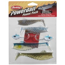KIT LEURRES SOUPLES BERKLEY POWERBAIT SEABASS AT'TRACTION