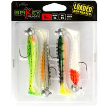 KIT LEURRES SOUPLES FOX RAGE SPIKEY LOADED MIXED COLOUR