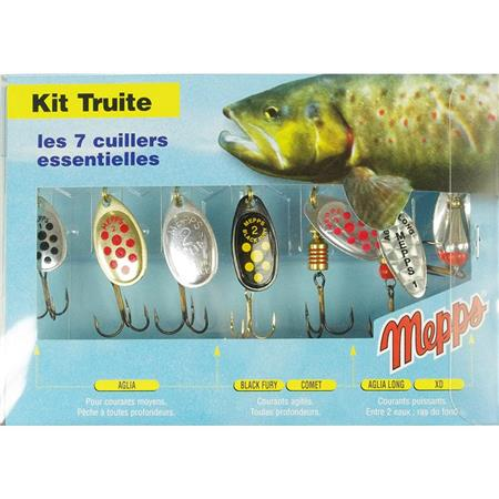 KIT TROUT 7 SPOONS MEPPS