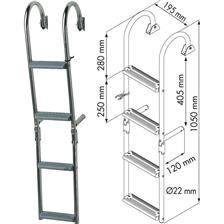 LADDER PLASTIMO NARROWS STEPS CROSSES 180°