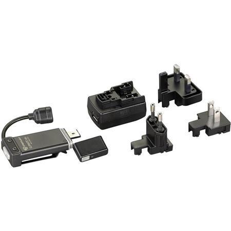 LAMPE USB STREAMLIGHT CLIPMATE + 220V - NOIR LED BLANCHE/ROUGE