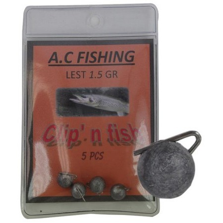 LEAD CLIP FOR MOUNTING MULTI-LURE AC FISHING