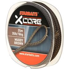 LEAD CORE STARBAITS XCORE MUDDY BROWN - 25m - 45lbs