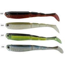 Lures AMS SHAD MULTI SECTION 12.5CM PURPLE CHARTREUSE