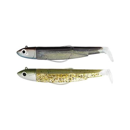 LEURRE SOUPLE ARME FIIISH DOUBLE COMBO BLACK MINNOW 90 + TETE PLOMBEE OFF SHORE