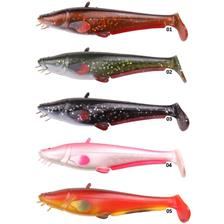 Lures D.A.M EFFZETT LOOK A LIFE CATFISH PADDLE TAIL LOOSE BODY 20CM GREEN