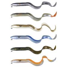 Lures Savage Gear 3D REAL EEL BULK 15CM GREEN RED PEAR - GREEN RED PEARL